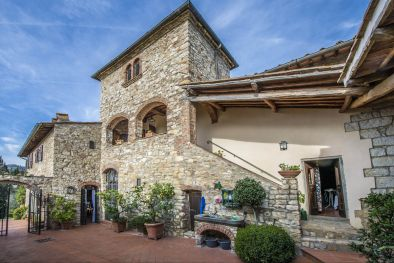 GREVE IN CHIANTI STONE HOUSE OLIVE GROVE FOR SALE