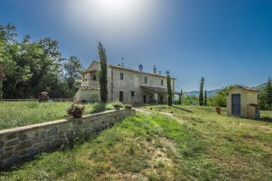 UMBERTIDE: COUNTRY HOUSE WITH LAND AND ANNEX TO BE RESTORED FOR SALE, UMBRIA, FARMHOUSE, NICCONE