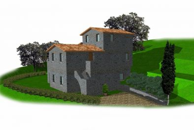 UMBRIA: BUILDING PLOT FOR SALE WITH PROJECT APPROVED  Maggiori Dettagli e Foto