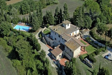 ESTATE WITH MANOR VILLA: LUXURY PROPERTY FOR SALE NEAR FLORENCE, CHIANTI CLASSICO HILLS