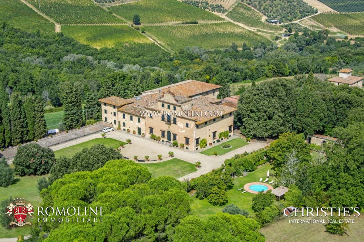 Tuscan wine estate for sale chianti colli fiorentini for Quanto costa una mega villa