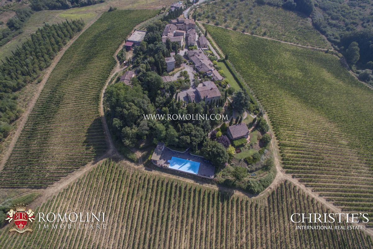 CASTLE FOR SALE ITALY, CHIANTI CLASSICO WINE RY DOCG TUSCANY AREA
