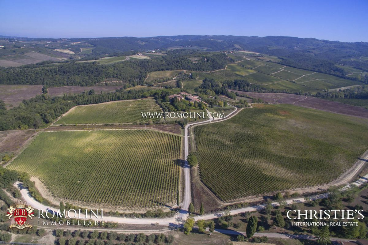 165 HA TUSCAN WINE ESTATE, 45 HA VINEYARDS CHIANTI CLASSICO