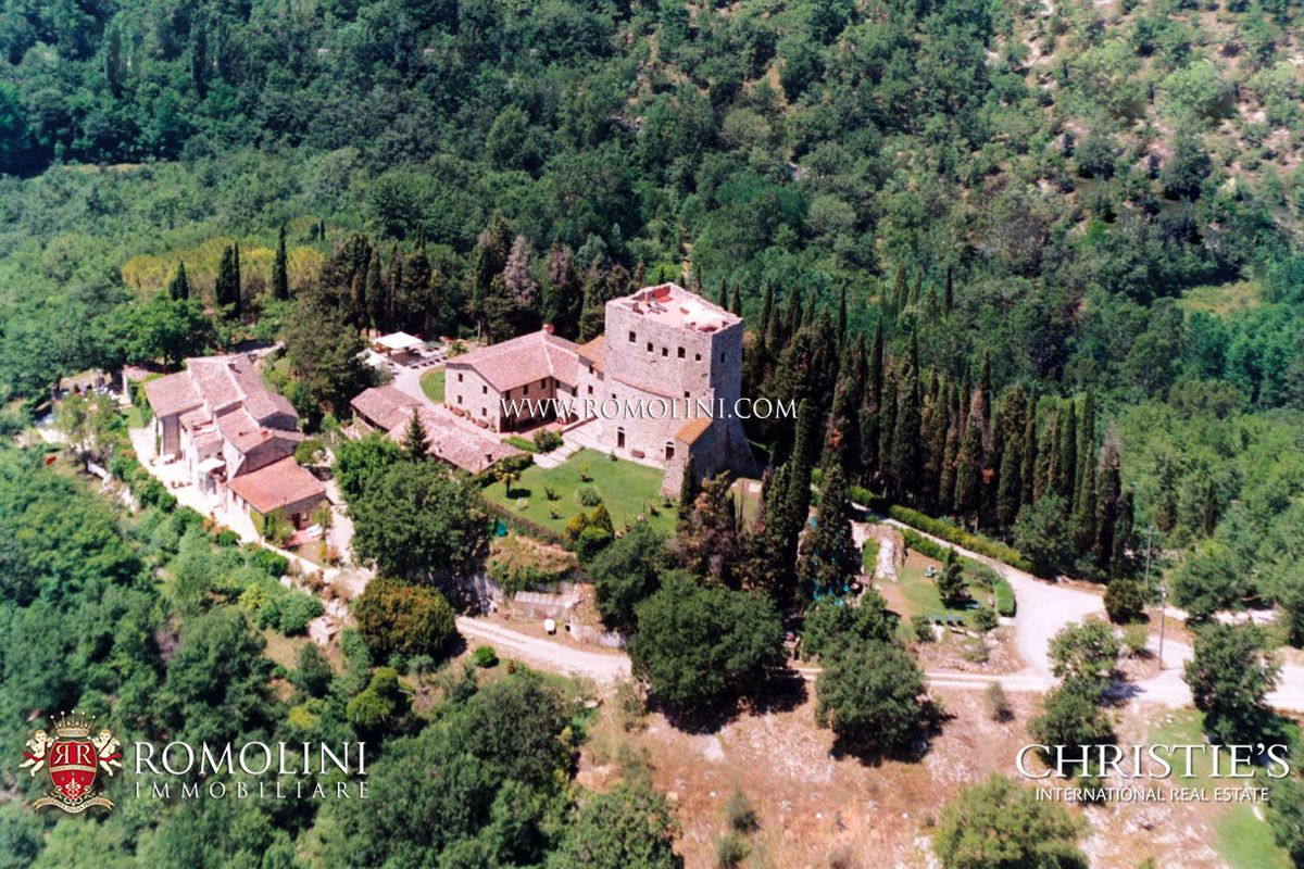CASTLE WITH WINE CELLAR AND VINEYARDS FOR SALE IN THE HEART OF CHIANTI CLASSICO, TUSCANY