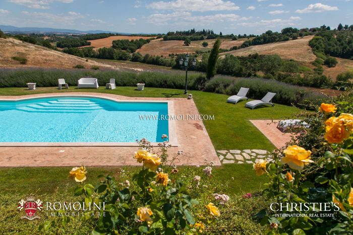 TYPICAL TUSCAN FARMHOUSE WITH VINEYARD FOR SALE, SIENA