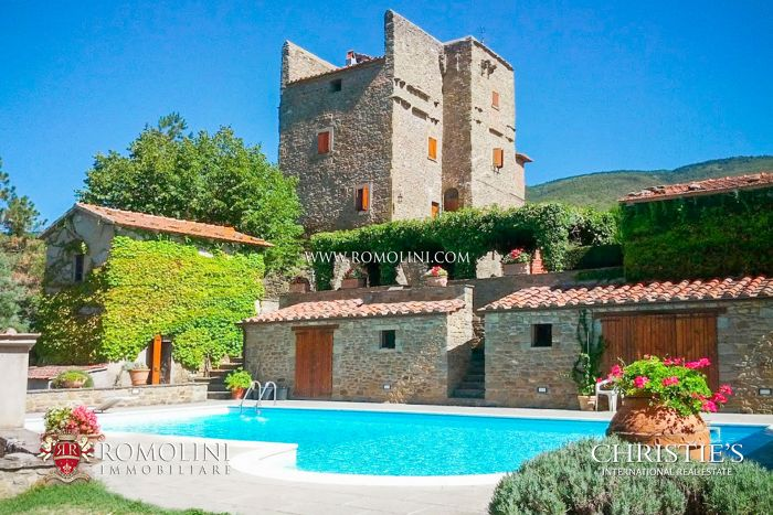 RESTORED MEDIEVAL TOWER FOR SALE CORTONA TUSCANY