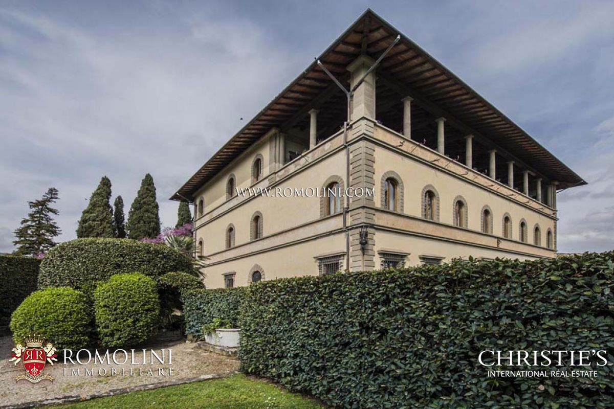 FIESOLE: LUXURY APARTMENT HISTORICAL VILLA FOR SALE FLORENCE