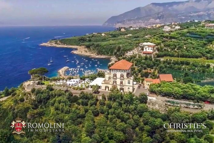 COASTAL ESTATE WITH LUXURY SEA VIEW VILLA AND 40 ACRES OF LAND FOR SALE ON THE AMALFI COAST, Sorrento